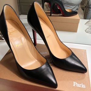 AUTHENTIC CHRISTIAN LOUBOUTIN BLACK PIGALLE HEELS